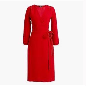 J Crew Women's 365 Crepe Wrap Dress
